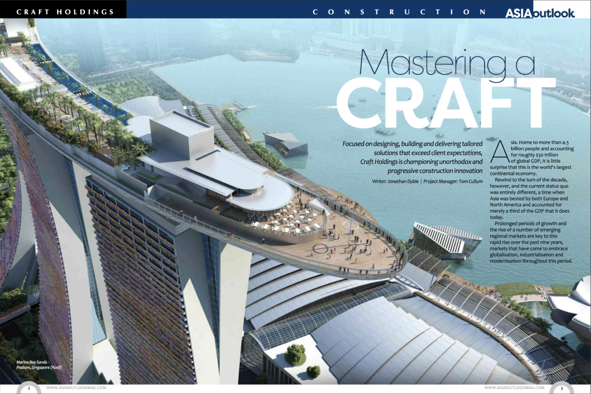 Craft Holdings on Asia Outlook Magazine